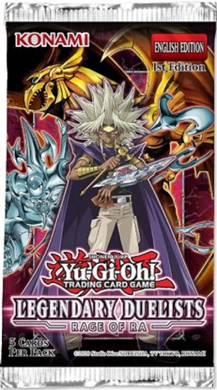 YuGiOh Trading Card Game Legendary Duelists Rage of Ra Booster Pack [5 Cards]