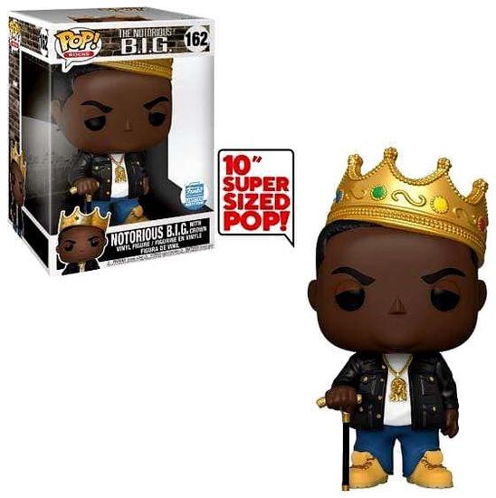 Funko POP! Rocks Notorious BIG (Biggie Smalls) 10-Inch Vinyl Figure #162 [Crown, Super-Sized]
