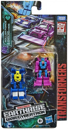 Transformers Generations Earthrise: War for Cybertron Trilogy Roller & Ground Hog Micromaster Action Figure 2-Pack [Race Track Control] (Pre-Order ships June)