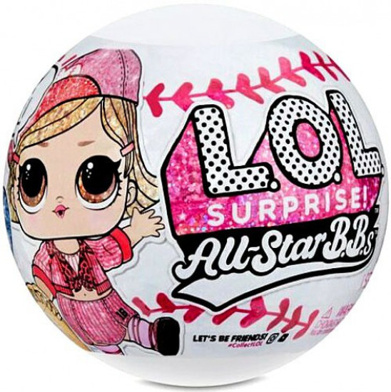 LOL Surprise All Stars BBs Series 1 Baseball Heartbreakers Mystery Pack [PINK Team, 1 RANDOM Figure]