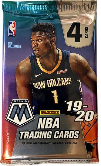 NBA Panini 2019-20 Prizm Mosaic Basketball Trading Card RETAIL Pack [4 Cards]
