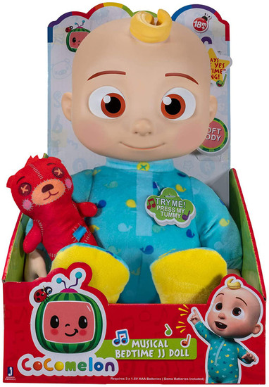 Cocomelon Bedtime JJ 10 Musical Plush Doll with Sound ...