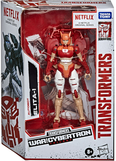 Transformers Generations War for Cybertron Elita-1 Exclusive Deluxe Action Figure [Netflix Series-Inspired]