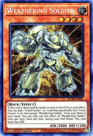 YuGiOh Battles of Legend Armageddon Secret Rare Weathering Soldier BLAR-EN005