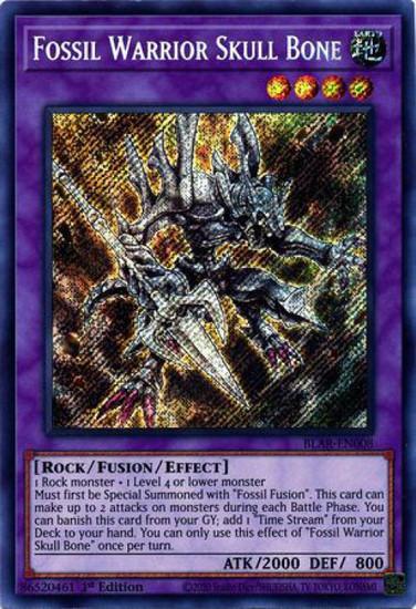 YuGiOh Battles of Legend Armageddon Secret Rare Fossil Warrior Skull Bone BLAR-EN008