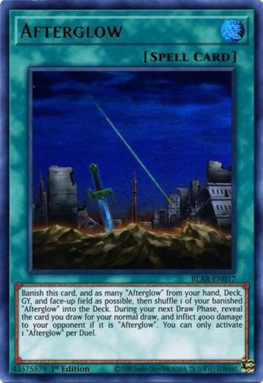 YuGiOh Battles of Legend Armageddon Ultra Rare Afterglow BLAR-EN017