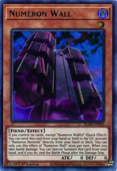 YuGiOh Battles of Legend Armageddon Ultra Rare Numeron Wall BLAR-EN020