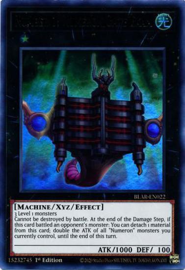 YuGiOh Battles of Legend Armageddon Ultra Rare Number 1: Numeron Gate Ekam BLAR-EN022