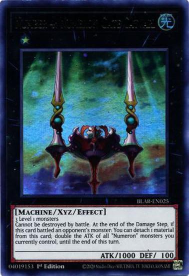 YuGiOh Battles of Legend Armageddon Ultra Rare Number 4: Numeron Gate Catvari BLAR-EN025