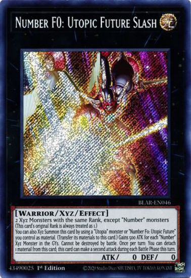 YuGiOh Battles of Legend Armageddon Secret Rare Number F0: Utopic Future Slash BLAR-EN046