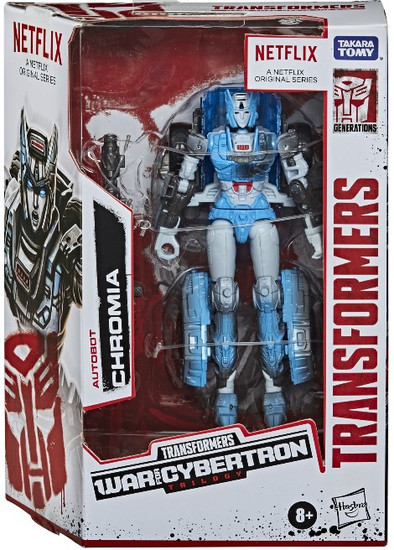 Transformers Generations War for Cybertron: Trilogy Chromia Exclusive Deluxe Action Figure [Netflix Series Inspired]