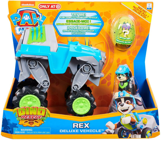 Paw Patrol Dino Rescue Rex Exclusive Deluxe Vehicle [Includes 1 Mystery Dino Figure!]