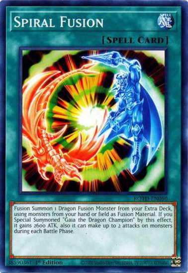 YuGiOh Rise of the Duelist Common Spiral Fusion ROTD-EN050