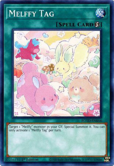 YuGiOh Rise of the Duelist Common Melffy Tag ROTD-EN056
