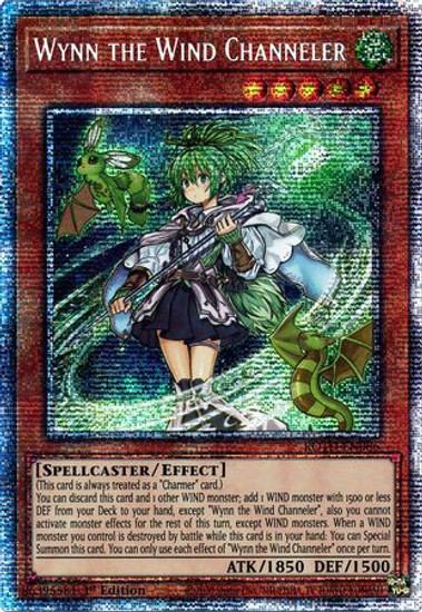 YuGiOh Rise of the Duelist Starlight Rare Wynn the Wind Channeler ROTD-EN086