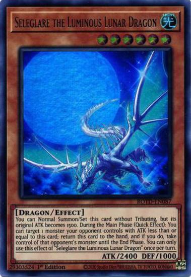 YuGiOh Rise of the Duelist Ultra Rare Seleglare the Luminous Lunar Dragon ROTD-EN087