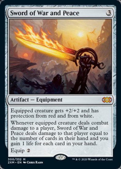 MtG Double Masters Mythic Rare Foil Sword of War and Peace #300