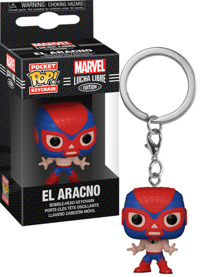 Funko Marvel Luchadores Pocket POP! El Aracno Keychain [Spider-Man]