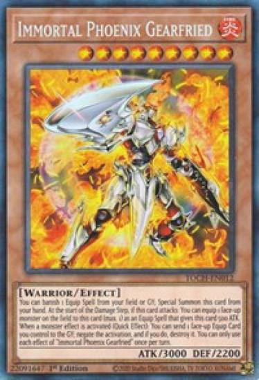 YuGiOh Toon Chaos Collector Rare Immortal Phoenix Gearfried TOCH-EN012