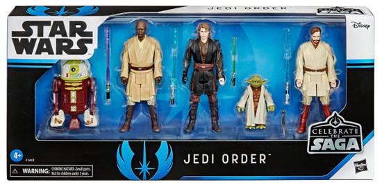 Star Wars Celebrate the Saga Jedi Order Action Figure 5-Pack [Obi-Wan Kenobi, Mace Windu, Anakin Skywalker, Yoda & R7-A7] (Pre-Order ships February)