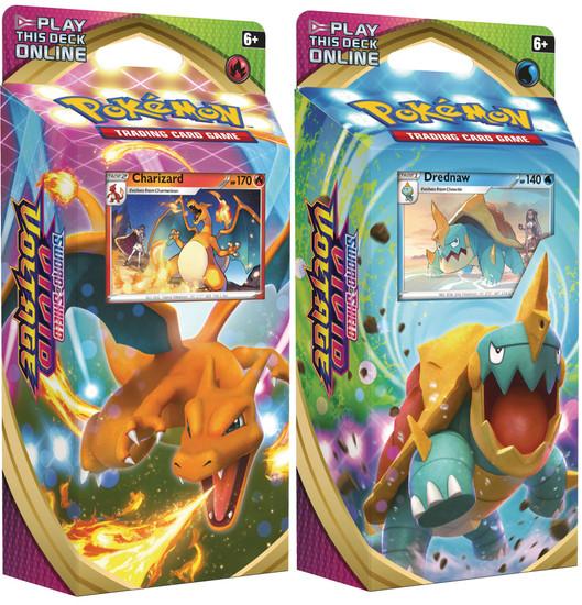 Pokemon Trading Card Game Sword & Shield Vivid Voltage Charizard & Drednaw Set of Both Theme Decks