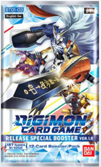 Digimon Trading Card Game Release Special Booster Ver 1.0 Booster Pack [12 Cards]