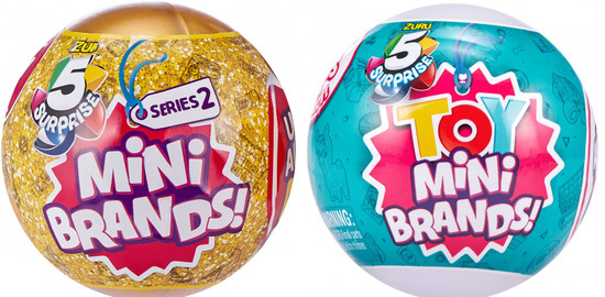 5 Surprise Mini Brands! Series 2 & TOY COMBO of 2 Mystery Packs