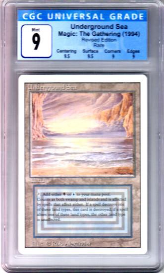 MtG Revised Rare Underground Sea [Graded CGC 9 - Mint]