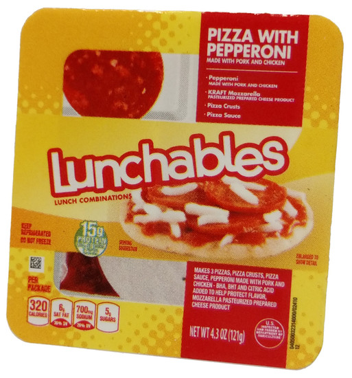 5 Surprise Mini Brands! Lunchables 1-Inch Miniature [Pizza with Pepperoni Loose]