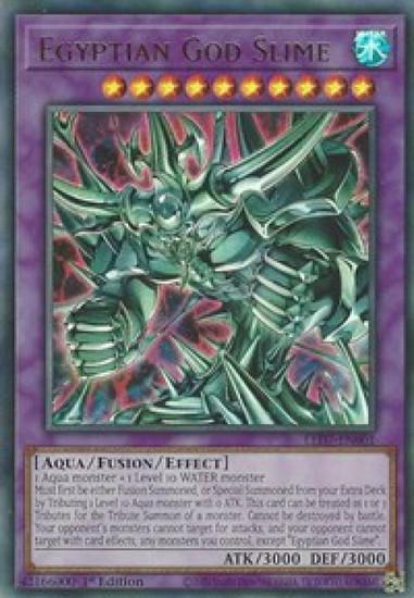 YuGiOh Legendary Duelists: Rage of Ra Ultra Rare Egyptian God Slime LED7-EN001