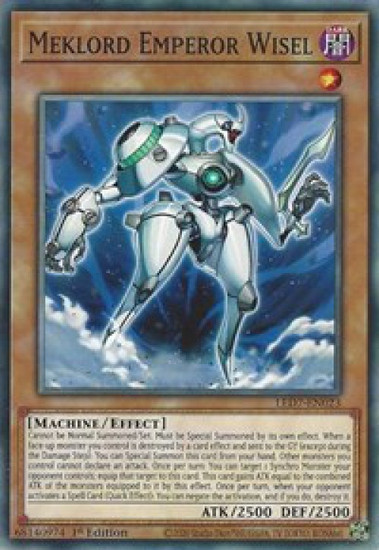 YuGiOh Legendary Duelists: Rage of Ra Common Meklord Emperor Wisel LED7-EN023