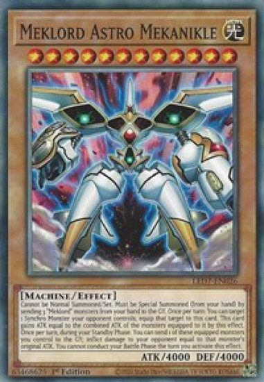 YuGiOh Legendary Duelists: Rage of Ra Common Meklord Astro Mekanikle LED7-EN026