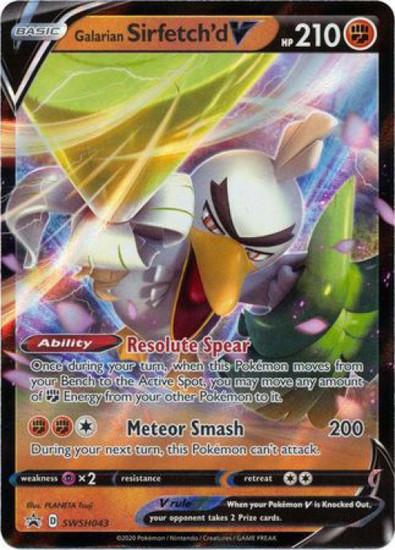 Pokemon Sword & Shield Promo Ultra Rare Galarian Sirfetch'd SWSH043