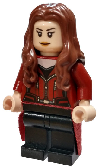 LEGO Marvel Super Heroes Captain America: Civil War Scarlet Witch Minifigure [Fabric Skirt Loose]
