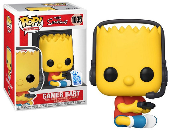 Funko The Simpsons Treehouse of Horror POP! Animation Gamer Bart Exclusive Vinyl Figure #1035