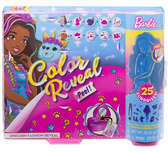 Barbie Color Reveal Unicorn Surprise Fashion Doll