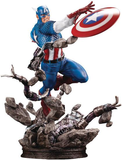 Marvel Avengers Fine Art Captain America 7-Inch Limited Edition Statue