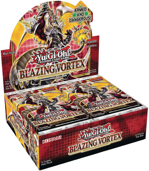 YuGiOh Trading Card Game Blazing Vortex Booster Box [24 Packs]