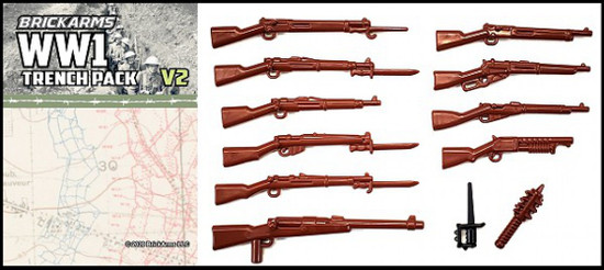 BrickArms WW1 Trench Pack v2 Weapons Pack