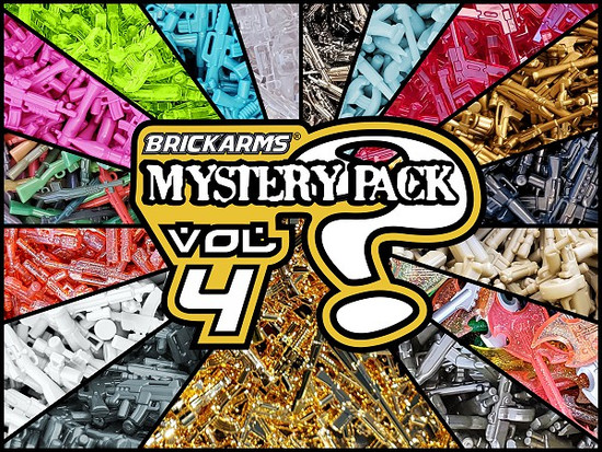 BrickArms GOLDEN Mystery Pack vol 4 Weapons Pack