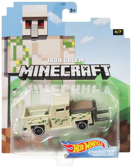 Hot Wheels Minecraft Character Cars Iron Golem Diecast Character Car #4/7 [2020]