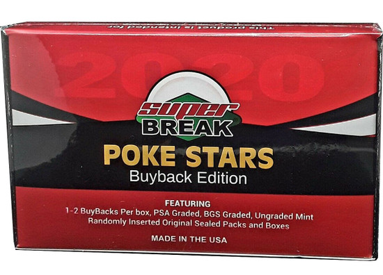Pokemon Trading Card Game Poke Stars Buyback Edition Box [1 GRADED BuyBack Card Per Box]