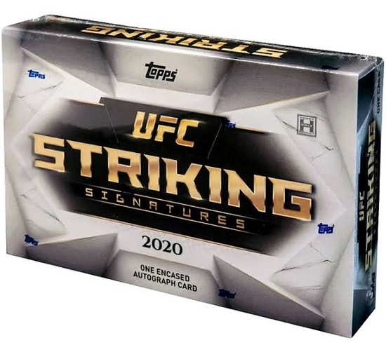 UFC Topps 2020 Striking Signatures Trading Card HOBBY Box [1 Encased Autograph Card!]