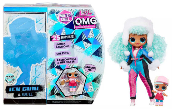 LOL Surprise Winter Chill OMG Icy Gurl & BRRR B.B. Fashion Doll