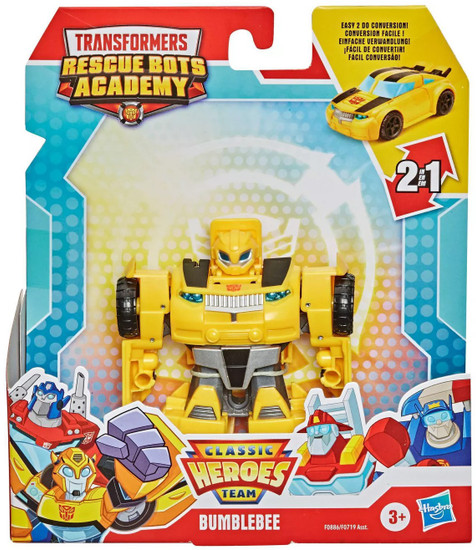 """Transformers Playskool Heroes Rescue Bots Academy All-Star Bumblebee 4.5"""" Action Figure [Rescan] (Pre-Order ships February)"""