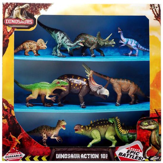 Dinosaurs Dinosaur Action Figure 10-Pack [Version 2, Damaged Package]