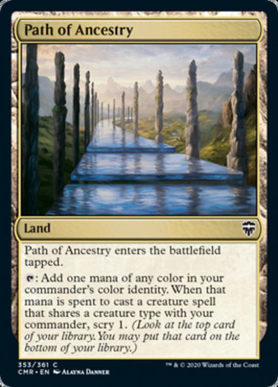 MtG Commander Legends Common Path of Ancestry #353