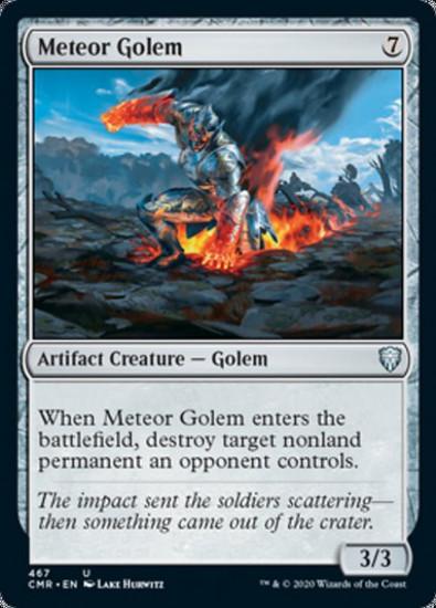 MtG Commander Legends Uncommon Meteor Golem #467 [Commander Deck]