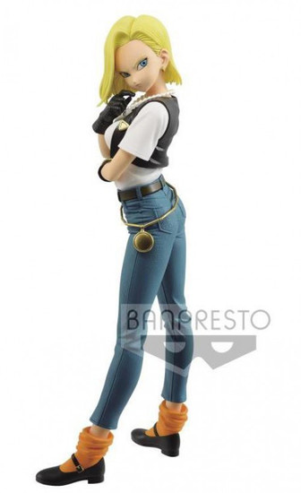 Dragon Ball Z Glitter & Glamour Android 18 10'' PVC Figure [Version A, Dark Jeans] (Pre-Order ships May)