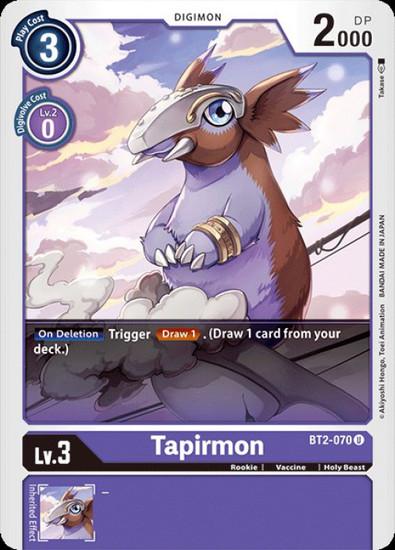 Digimon Trading Card Game 2020 V.1 Uncommon Tapirmon BT2-070